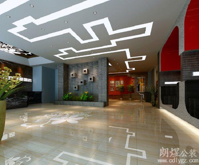 创意酒店大厅装修效果图