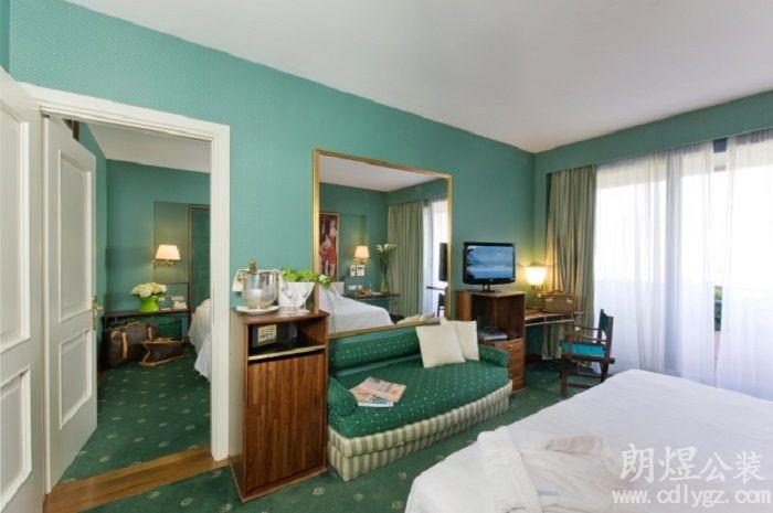 地中海酒店装修风格效果图